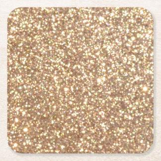 Porta-copo De Papel Quadrado Brilho metálico do ouro cor-de-rosa do cobre