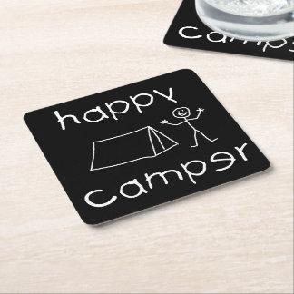 Porta-copo De Papel Quadrado Campista feliz (branco)