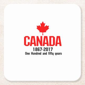 Porta-copo De Papel Quadrado CANADÁ feliz 150 anos de bandeira canadense legal