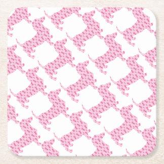 Porta-copo De Papel Quadrado Cancer-Fita-Doxie