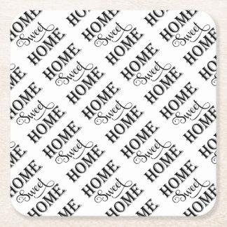 Porta-copo De Papel Quadrado Casa doce Home