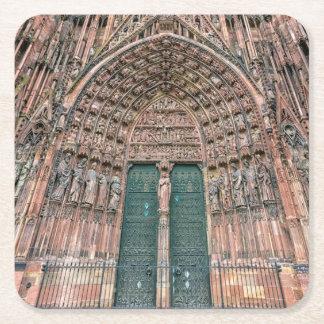 Porta-copo De Papel Quadrado Cathedrale Notre-Dame, Strasbourg, France