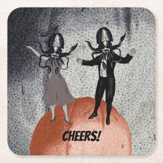 Porta-copo De Papel Quadrado Celebração da dança dos aliens