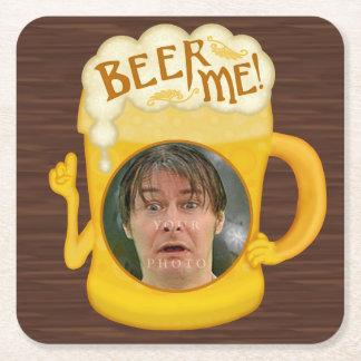 Porta-copo De Papel Quadrado Cerveja engraçada mim foto personalizada   do