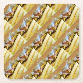 Porta-copo De Papel Quadrado Cheeseburger e fritadas