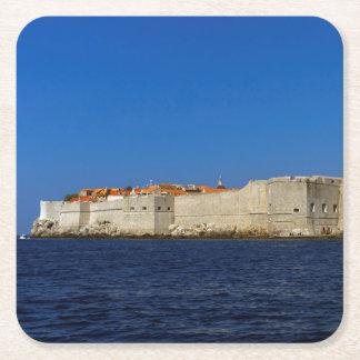 Porta-copo De Papel Quadrado Cidade velha de Dubrovnik, Croatia