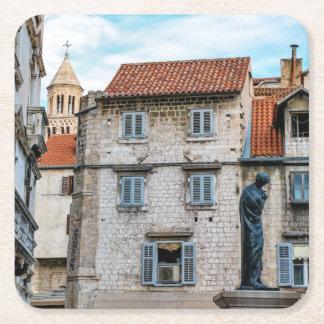 Porta-copo De Papel Quadrado Cidade velha, separação, Croatia