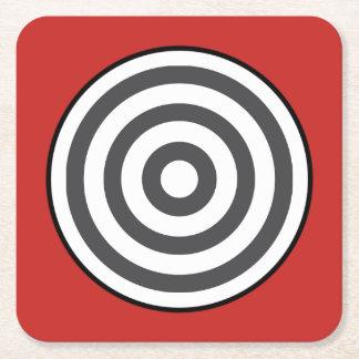 Porta-copo De Papel Quadrado Círculo do Bullseye - porta copos quadrada