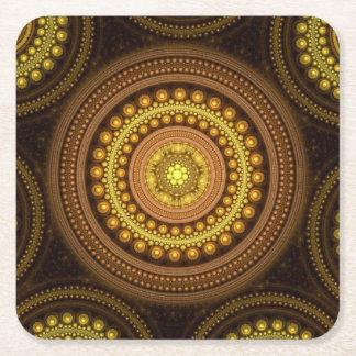 Porta-copo De Papel Quadrado Círculos do Fractal