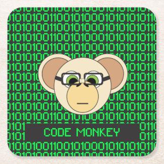 Porta-copo De Papel Quadrado Codifique a selva animal do codificador do