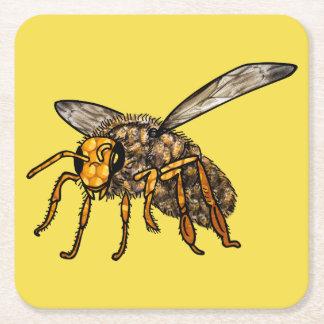 Porta-copo De Papel Quadrado Colmeia da abelha na porta copos da abelha