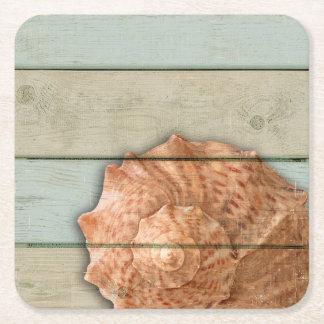 Porta-copo De Papel Quadrado Conch Shell