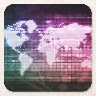 Porta-copo De Papel Quadrado Conexão de rede global e sistema integrado