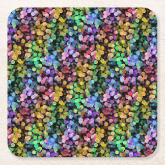 Porta-copo De Papel Quadrado Confetes do arco-íris, coloridos, Sequin, colorido