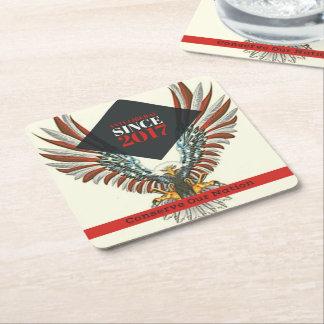 Porta-copo De Papel Quadrado Conserve nossas portas copos da nação (Eagle)