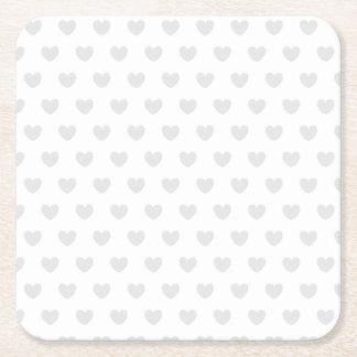Porta-copo De Papel Quadrado Corações claros