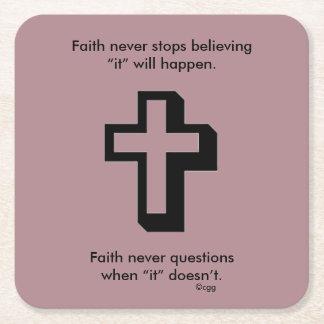 Porta-copo De Papel Quadrado Da fé cruz das portas copos w/Shadow nunca