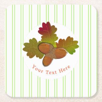 Porta-copo De Papel Quadrado Da queda rústica do outono das bolotas pequenas