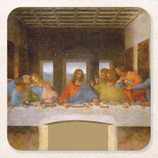 Porta-copo De Papel Quadrado Da Vinci a última ceia
