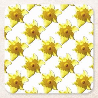 Porta-copo De Papel Quadrado Daffodil 1,0 da trombeta amarela