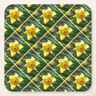 Porta-copo De Papel Quadrado Daffodil amarelo 02,3