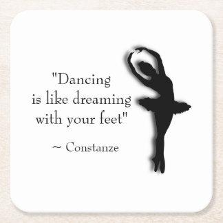 Porta-copo De Papel Quadrado Dança inspirador
