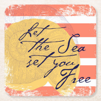 Porta-copo De Papel Quadrado Deixe o mar ajustá-lo livre