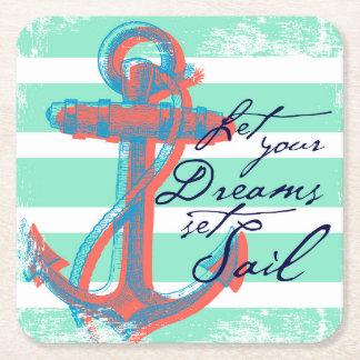 Porta-copo De Papel Quadrado Deixe sua vela ajustada sonhos