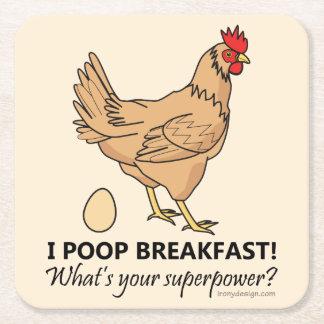 Porta-copo De Papel Quadrado Design engraçado do pequeno almoço dos tombadilhos