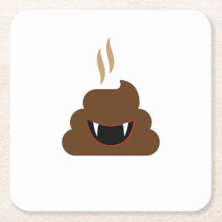Porta-copo De Papel Quadrado Dia das Bruxas engraçado de Emoji do tombadilho do