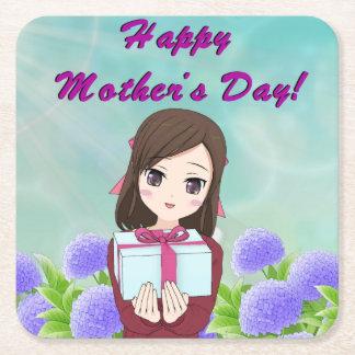 Porta-copo De Papel Quadrado Dia das mães atual