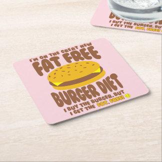 Porta-copo De Papel Quadrado Dieta livre de gordura do hamburguer