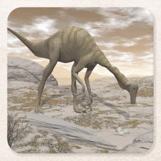 Porta-copo De Papel Quadrado Dinossauro de Gallimimus - 3D rendem