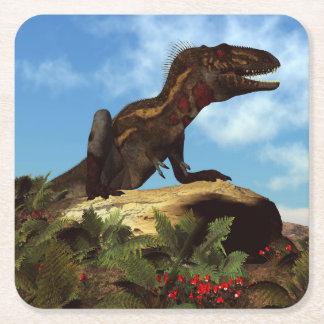Porta-copo De Papel Quadrado Dinossauro de Nanotyrannus que descansa - 3D