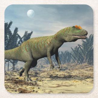 Porta-copo De Papel Quadrado Dinossauro do Allosaurus - 3D rendem