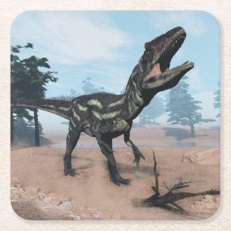 Porta-copo De Papel Quadrado Dinossauro do Allosaurus que ruje - 3D rendem