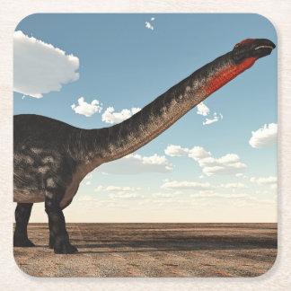 Porta-copo De Papel Quadrado Dinossauro do Apatosaurus - 3D rendem