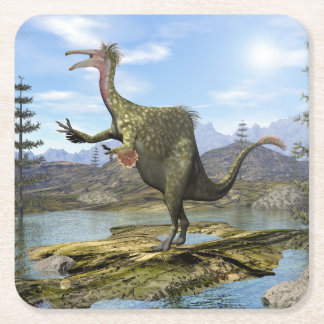 Porta-copo De Papel Quadrado Dinossauro do Deinocheirus - 3D rendem
