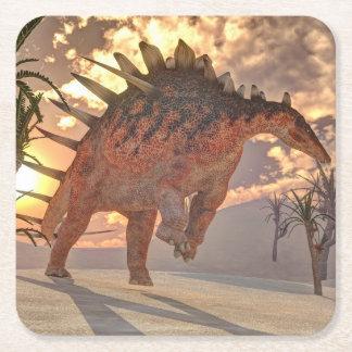 Porta-copo De Papel Quadrado Dinossauro do Kentrosaurus - 3D rendem