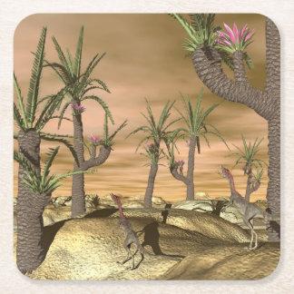Porta-copo De Papel Quadrado Dinossauros de Compsognathus - 3D rendem