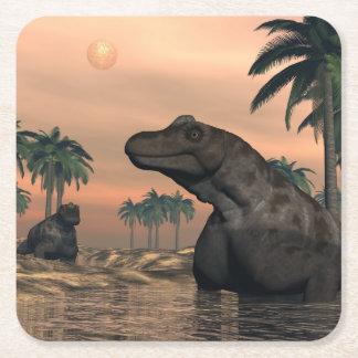 Porta-copo De Papel Quadrado Dinossauros de Keratocephalus - 3D rendem