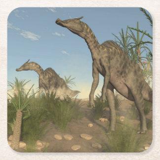 Porta-copo De Papel Quadrado Dinossauros de Saurolophus - 3D rendem