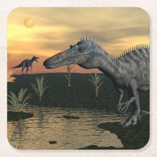 Porta-copo De Papel Quadrado Dinossauros de Suchomimus - 3D rendem