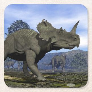 Porta-copo De Papel Quadrado Dinossauros do Centrosaurus - 3D rendem