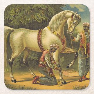 Porta-copo De Papel Quadrado Direitos do cavalo do T