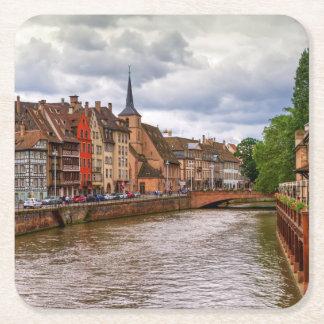 Porta-copo De Papel Quadrado Doca do Saint Nicolas em Strasbourg, France