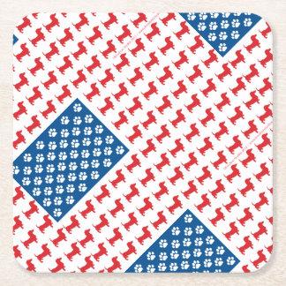 Porta-copo De Papel Quadrado Doxie-EUA-BANDEIRA-PARa-Obscuridades