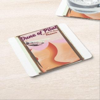 Porta-copo De Papel Quadrado Duna de Pilat, cartaz do viagem de France do