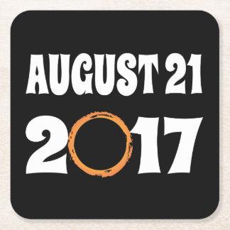Porta-copo De Papel Quadrado Eclipse solar 21 de agosto de 2017 total