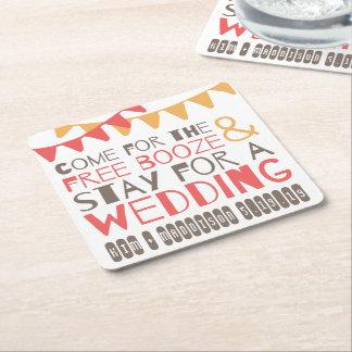 Porta-copo De Papel Quadrado Economias embandeiradas das bebidas & do casamento